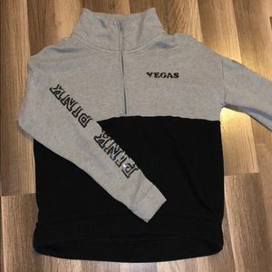 Vegas grey & black 1/4 zip from PINK